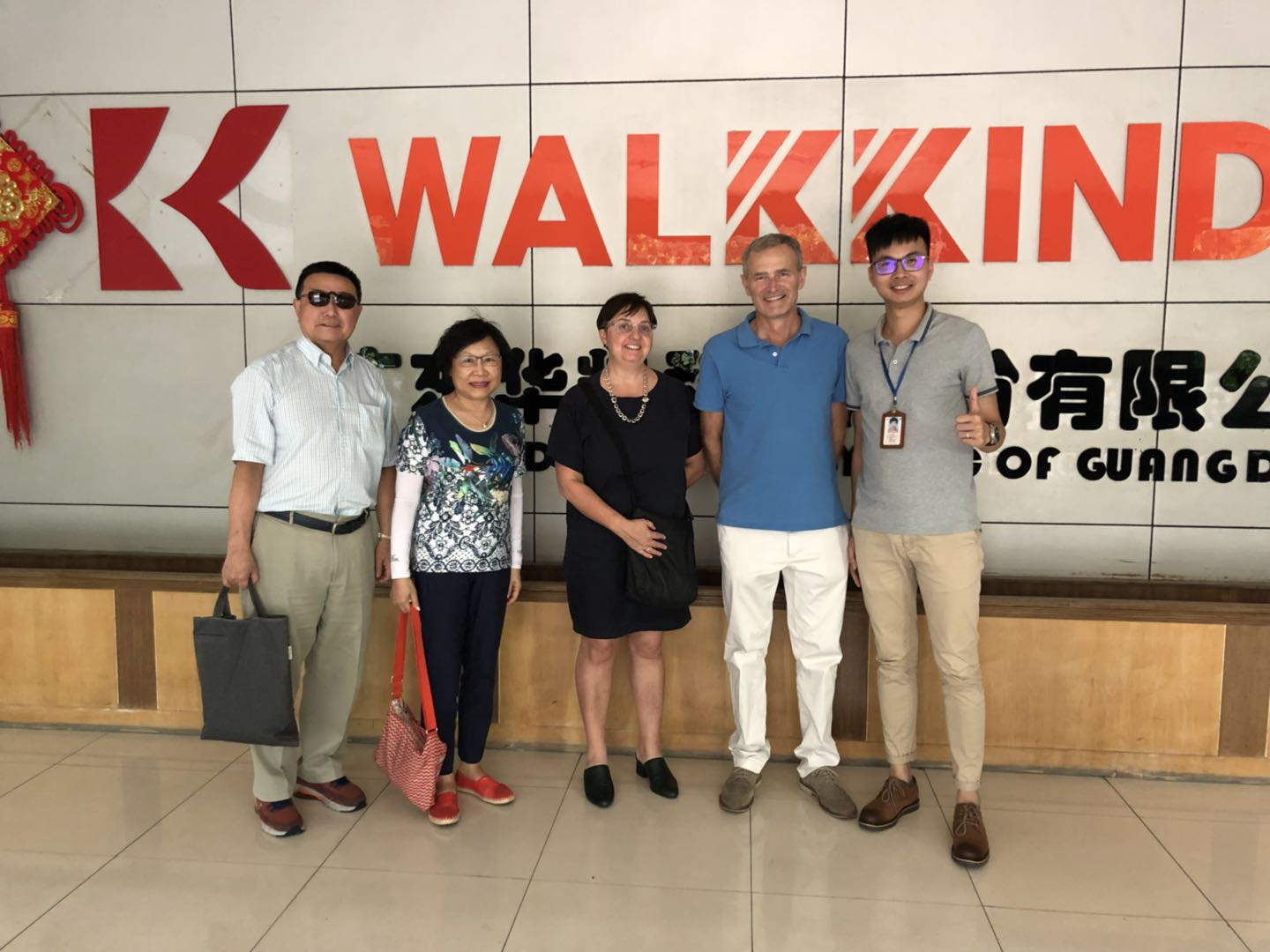 Walkkind-Australian Customer Visit Guangdong Walkkind Technology,Inc - Walkkind Insole Board